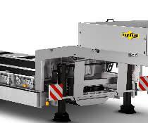 Der Satteltieflader HTS 40K von Humbaur besitzt eine besonders niedrige Ladehöhe von 790 mm für ein einfaches Be- und Entladen.