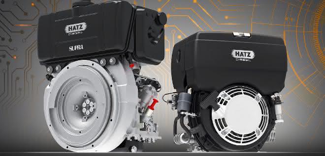 Bildunterschrift: Hatz präsentiert seine elektronische Steuerung für Einzylinder-Dieselmotoren. Die sogenannte E1-Technologie.