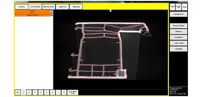 Innengeometrie-Messung von Extrusionsprodukten: Inline-System misst Rezyklat-Anteile