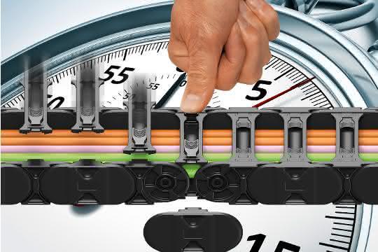 Schlank, stark, schnell befüllt: E-Kette ohne Werkzeug öffnen