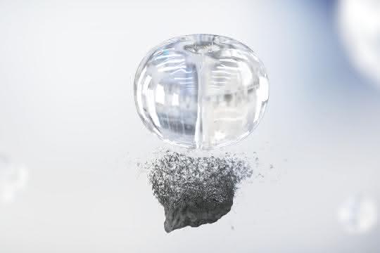 Wirkprinzip von Ultraschall: Ultraschallschwingungen führen in allen Flüssigkeiten zur Erzeugung von Millionen kleinster Vakuumbläschen, die sofort wieder implodieren und dabei hochwirksame Druckstöße von mehr als 1000 bar erzeugen. Dieser Prozess der sogenannten Kavitation bewirkt je nach gewähltem Energieeintrag beim Einsatz im Labor beispielsweise das Zerkleinern von Partikeln bis in den Nanobereich oder nur deren Desagglomeration, das Aufbrechen von Zellwänden für den Zellaufschluss, das intensive Vermischen von Lösungsbestandteilen, das Absprengen von Schmutz von Oberflächen u.v.m..