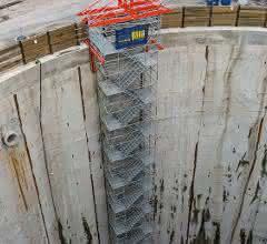 Treppenturm des PERI-UP-Gerüstsystems
