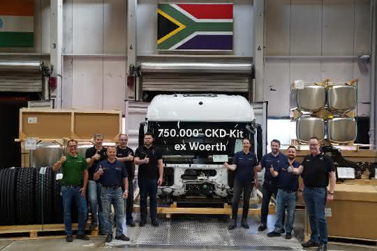 Eine dreiviertel Million für den ganzen Globus: 750.000ster Lkw-Bausatz verlässt das Mercedes-Benz Werk Wörth