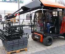 Neue Produktpalette: Pflasterverlegemaschine in neuem Gewand
