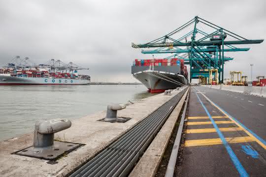 Geschäftszahlen veröffentlicht: Containerumschlag im Hafen Antwerpen wächst