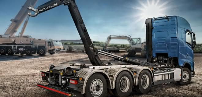 Meillers Abrollkipper RS26 als bauma-Highlight