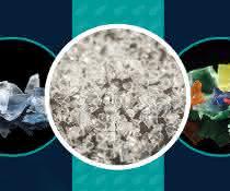 Kunststofffraktionen von 2 bis 12Millimetern werden gleichzeitig nach Farbe und nach Polymertypen sortiert.