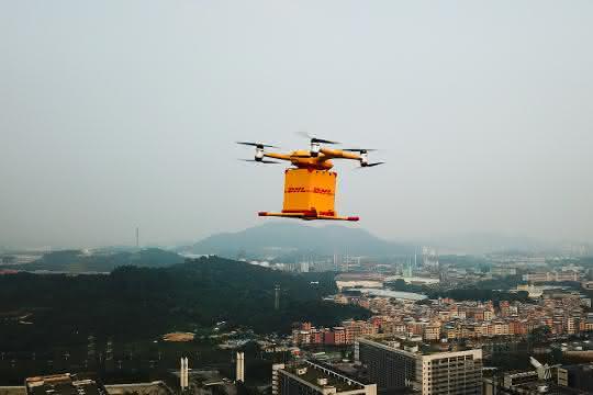 Drohnen-Lieferservice: DHL-Drohnen heben in China ab
