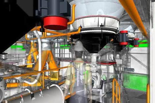 3D-Scan einer komplexen Materialförderanlage