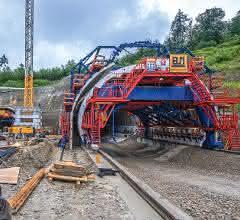 Rohbauarbeiten für den Tunnel