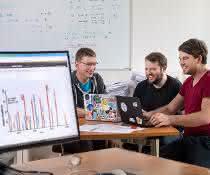 Dr. Mathias Wilhelm, Tobias Schmidt und Siegfried Gessulat am Lehrstuhl für Proteomik und Bioanalytik, drei der Autoren der Publikation.