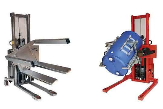 Handhabungsgeräte für Rollen, Fässer und Kisten