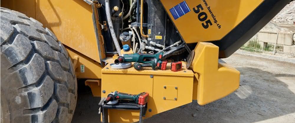 Wartung und Reparatur von Baumaschinen