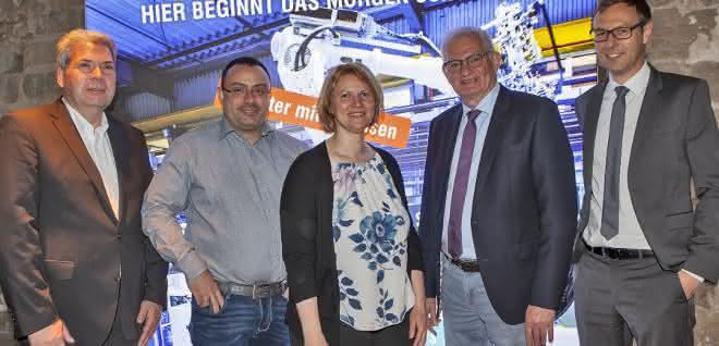 Der neue Vorstand des Kunststoff-Netzwerk Franken