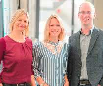 Prof. Dr. Karin Hauser, Annika Krüger und PD Dr. Aswin Mangerich (v.l.n.r.).