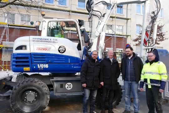 Bagger: Mobilbagger von Takeuchi bewährt sich in Aachen