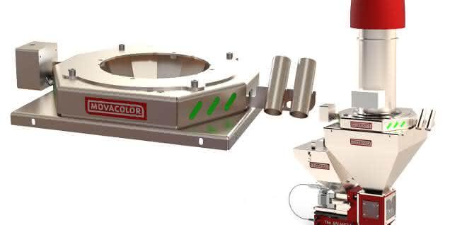 Mengenmessungen des verarbeiteten Granulats bilden die Basis für die Produktionsüberwachung.