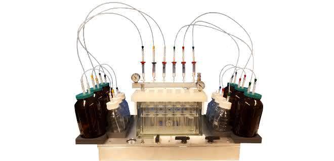 Mit dem EZSpe-System zur Festphasenextraktion können z.B. Trinkwasser- oder Abwasserproben für die Analyse vorbereitet werden.