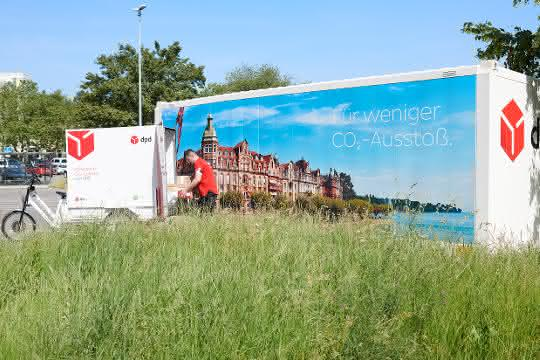 City-Logistik-Projekt: DPD setzt in Konstanz Wechselbrücke als Mikrodepot ein