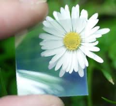Transparenter, flexibler Kupferiodid-Film.