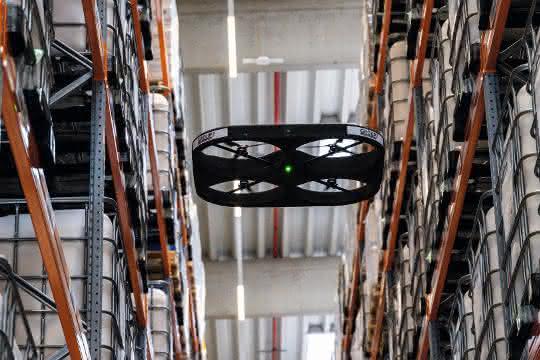 materialfluss 6/2019: Revolutionäre Inventur-Idee  zum Fliegen gebracht