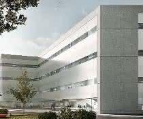 Das Microverse Center (Modellbild des Forschungsneubaus).