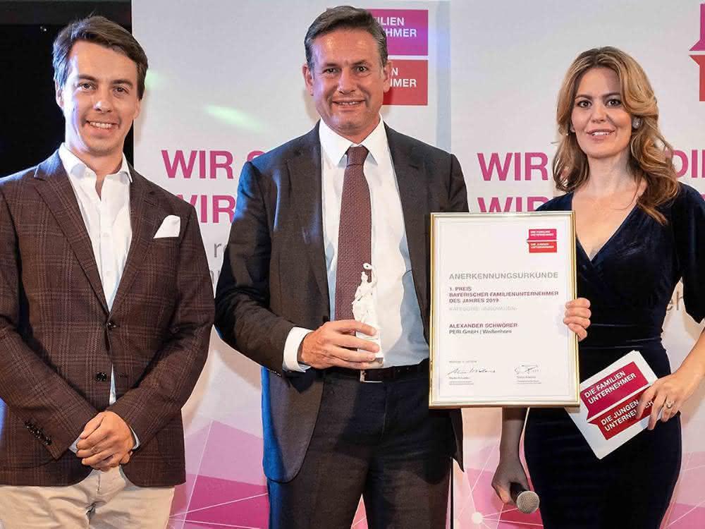 Bayerischer Familienunternehmerpreis 2019: PERI mit Familienunternehmerpreis ausgezeichnet