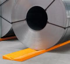 Aus materialfluss SPEKTRUM 2019: Blechcoils sicher zwischenlagern