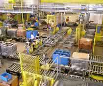 Materialfluss in der industriellen Produktion