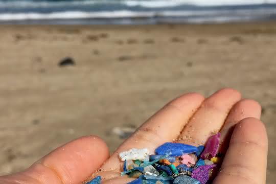 Beklemmend: Meeresverschmutzung mit Plastik ist allgegenwärtig, selbst an menschenleeren Traumstränden, wie hier auf Lanzarote, oder in noch abgelegeneren Regionen, wie der Arktis.