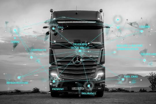 Maschine-Maschine-Transaktion: Pilotprojekt selbstzahlender Lkw