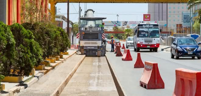 Straßenbau: Kompaktfräse punktet in Mexico