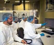 Reinraumlabor in der Isotopengeochemie der Universität Tübingen