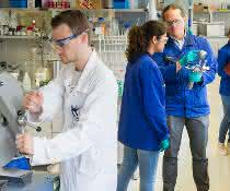 At the catalysis laboratory CaRLa, researchers work on issues relating to homogeneous catalysis.