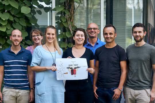 Teil des Innsbrucker Projektteams (von links): Florian Enzler, Andrea Raffeiner, die beiden Erstautorinnen Johanna Mayrhofer und Ruth Röck, Jakob Troppmair (Medizinische Universität), Eduard Stefan, Andreas Feichtner (nicht im Bild: Omar Torres-Quesada).