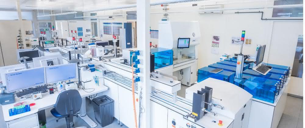 Bild 1: Anlage im mikrobiologischen Labor