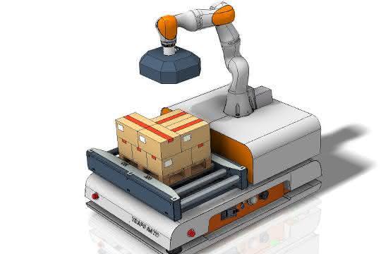 Trapo auf der Fachpack: MRK-Roboter ergänzen FTS