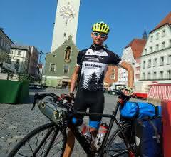 Im September 2019 reiste Sebastian Jäckle von Freiburg klimaneutral mit dem Fahrrad zu einer Konferenz nach Wroclaw/Polen.
