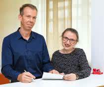 Dr. Nataliya Gorinski und Professor Dr. Evgeni Ponimaskin
