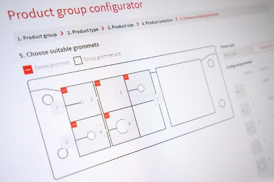 Online-Konfigurator: Kabelführungen kundenindividuell konfiguriert