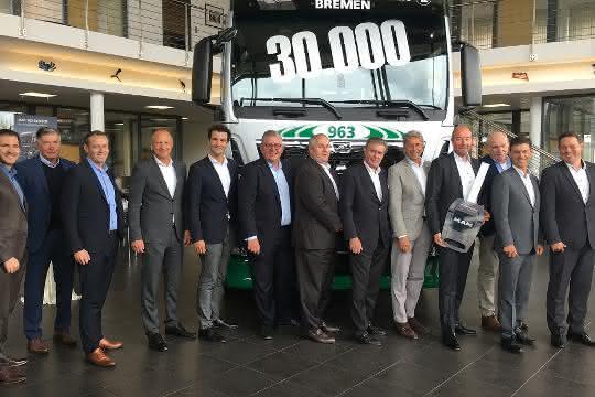 30.000. MAN-Lkw von Tiemann Gruppe ausgeliefert