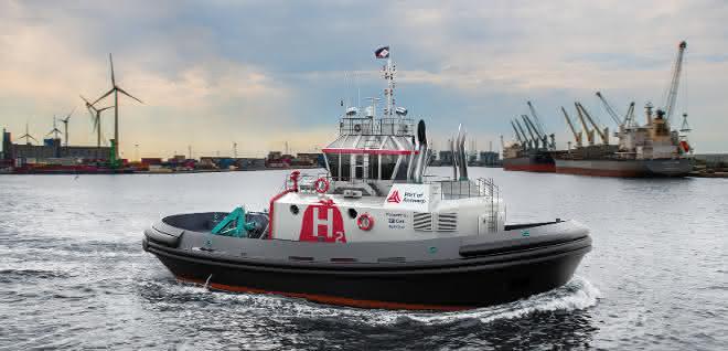 Dual-Fuel-Technologie: Wasserstoff-Schlepper für den Hafen Antwerpen