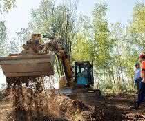 Kampfmittelräumung in den Heideflächen