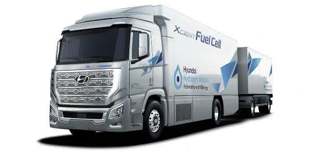 Pilotprojekt: Brennstoffzellen-Lkw von Hyundai startet 2020 in der Schweiz