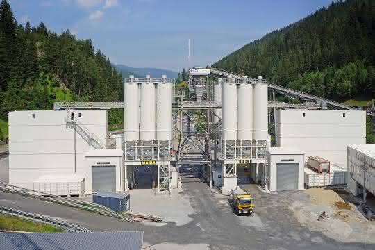 Liebherr-Mischanlagen meistern Betonproduktion am Brenner Basistunnel