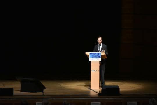 """GBN-Koordinator Prof. Dr. Michael Hummel stellte den Sample-Locator am ersten Tag der """"Europe Biobank Week 2019"""" vor."""