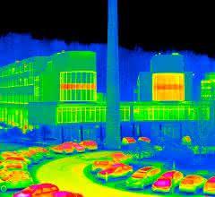 Thermografiebild des Firmensitzes der InfraTec
