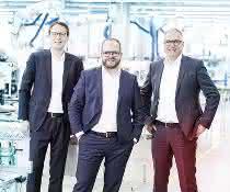 Der Lauda Geschäftsführer Dr. Mario Englert, der Geschäftsführende Gesellschafter Dr. Gunther Wobser sowie der Geschäftsführer Dr. Marc Stricker
