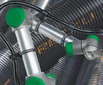 Kabelschutz-Wellrohre aus Polyamid-Regenerat sollen den Aspekt Nachhaltigkeit erfüllen.