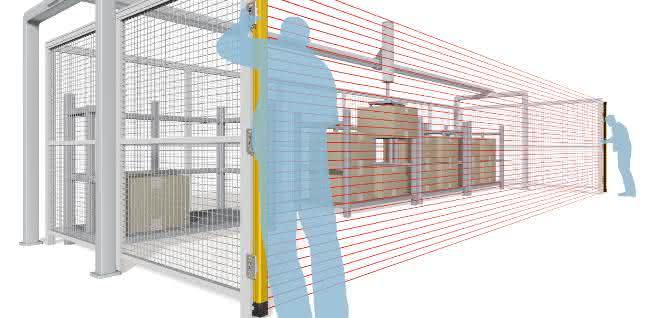 Omron_Sicherheitslichtgitter_Installation